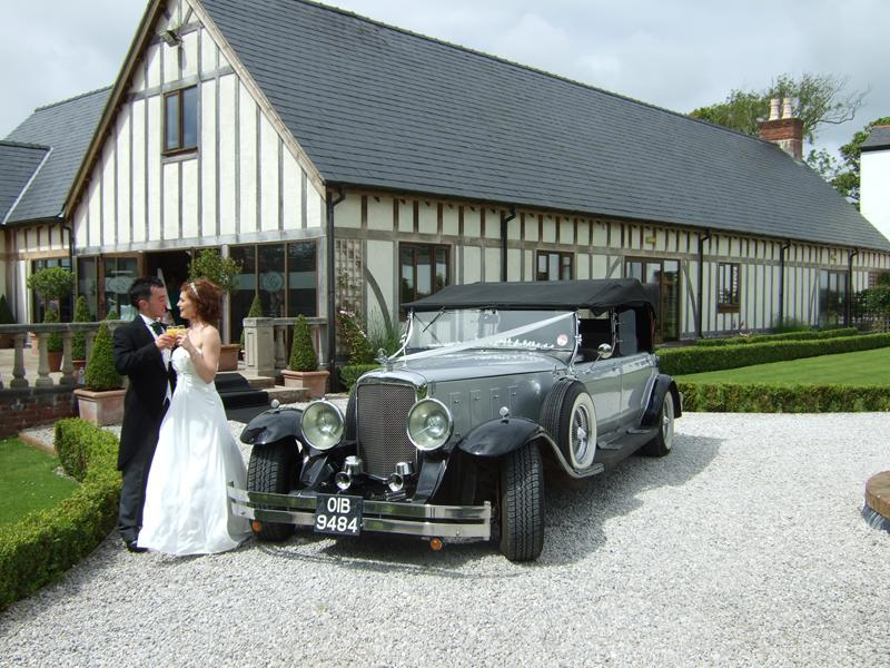 Dureau Convertible wedding car hire in manchester
