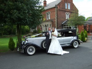 dureau convertible wedding car standish